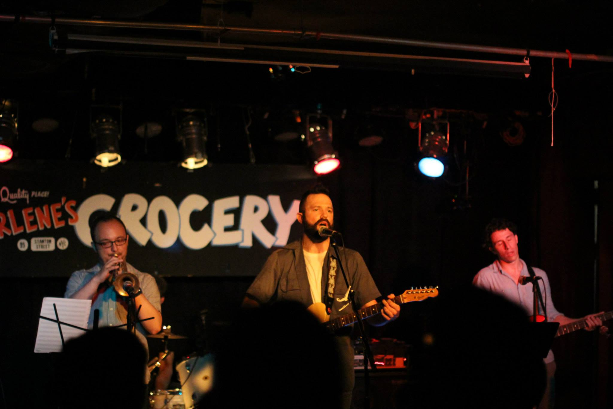 With The Bone Chimes at Arlene's Grocery, NYC  6.11.13   Photo by Rose Hogan.