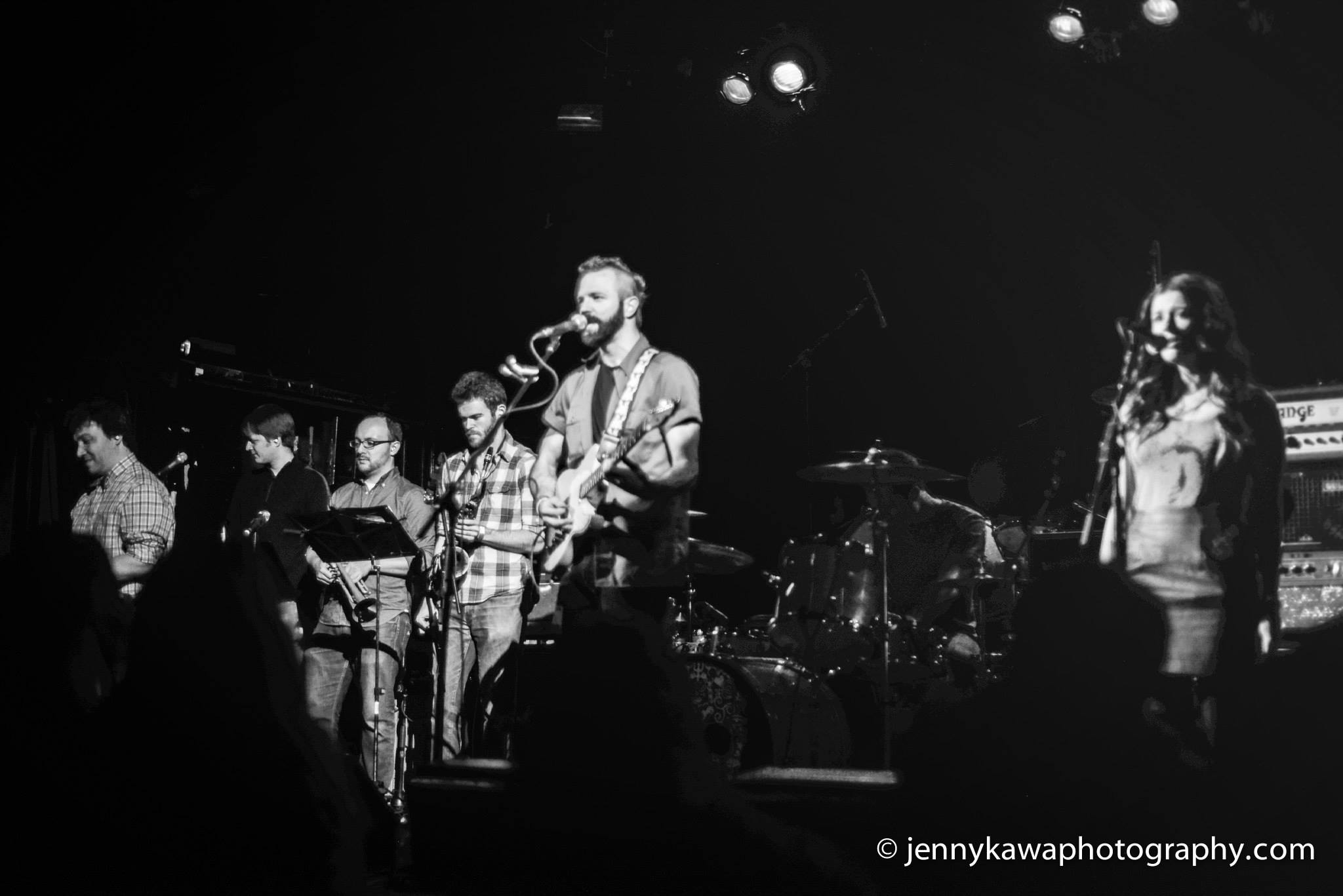 With the Bone Chimes at Irving Plaza, NYC.  12.21.2013.  Photo by Jenny Kawa.