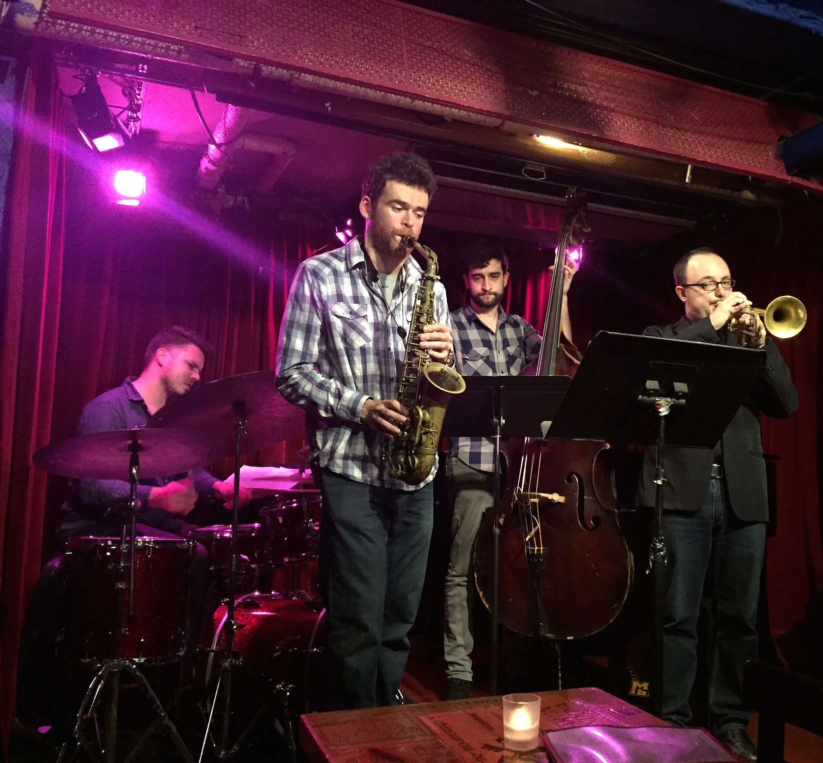 With Austin Walker, Andrew Gould, and Dylan Shamat at Cornelia St. Cafe 1.20.15